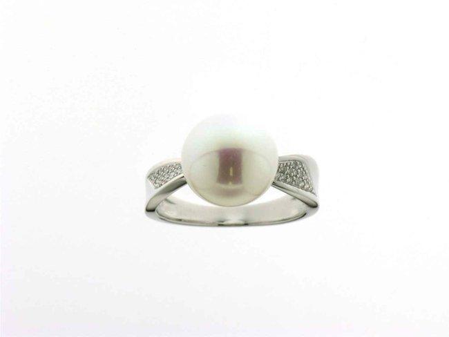 ring briljant-parel - goud | Taste of Luxury
