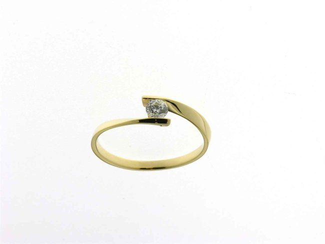 Ring zirkonium - goud 18 kt met zirkonium | Taste of Luxury
