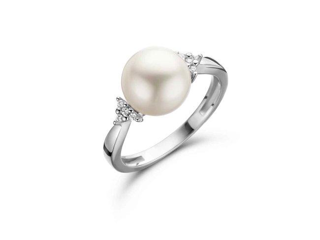 ring briljant-parel - goud 18 kt met briljant | Taste of Luxury