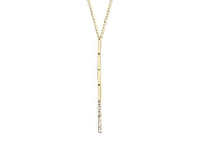 collier briljant - goud 18 kt met briljant | Taste of Luxury