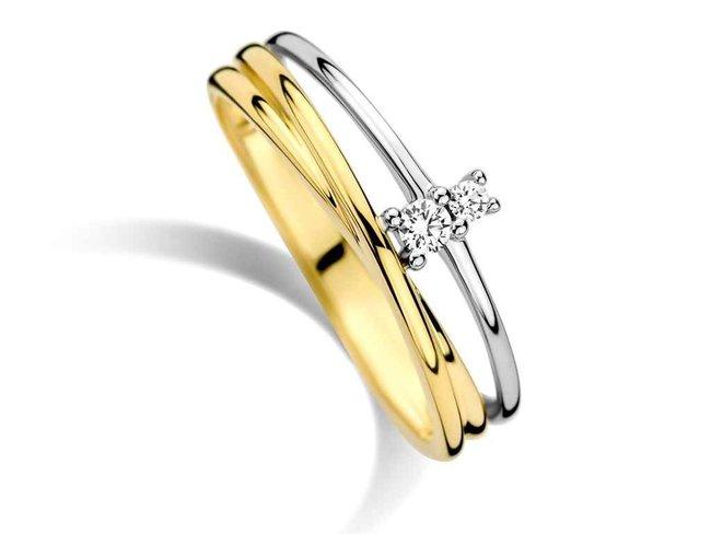 ring briljant - goud 18 kt met briljant | You & Me