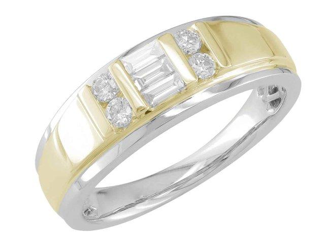 ring heren - goud 18 kt met briljant | J&A Collectie