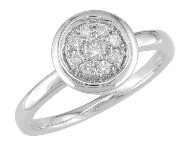 Ring - goud 18 kt met briljant | J&A Collectie