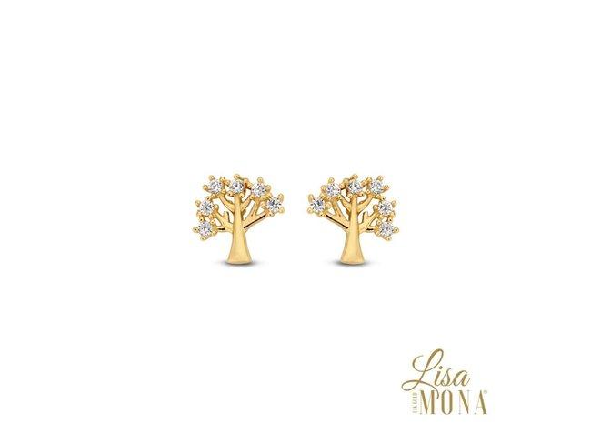 oorring zirkonium - goud 14 kt | LisaMona