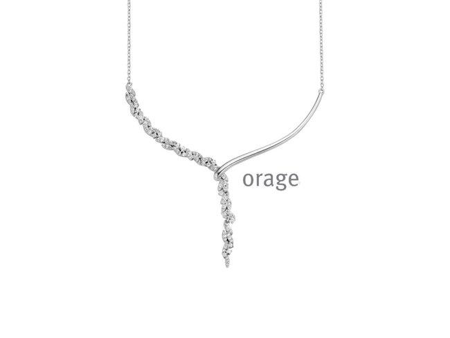 Ketting - zilver   Orage