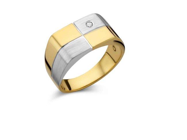 ring heren - goud 18 kt met briljant | Scaldis