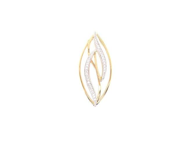 hanger zirkonium - goud | CARA