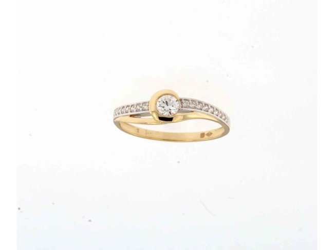 Ring zirkonium - goud | Taste of Luxury
