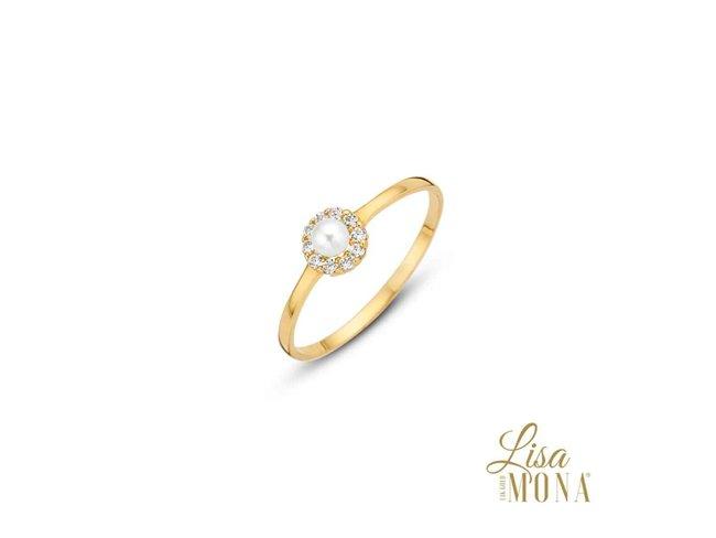 Ring Zirkonium - goud 14 kt | LisaMona