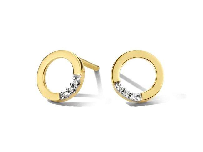 oorring briljant - goud | You & Me